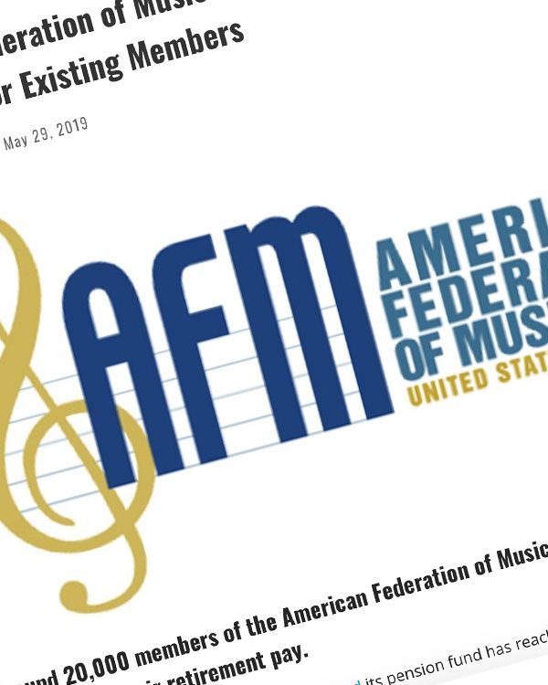 """Fairness Rocks News American Federation of Musicians Confirms """"Painful"""" Pension Fund Cuts for Existing Members"""