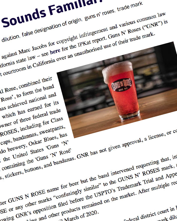 Fairness Rocks News 'Guns 'N' Rosé' Beer: Sounds Familiar?