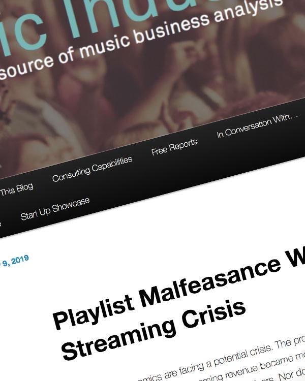 Fairness Rocks News Playlist Malfeasance Will Create a Streaming Crisis