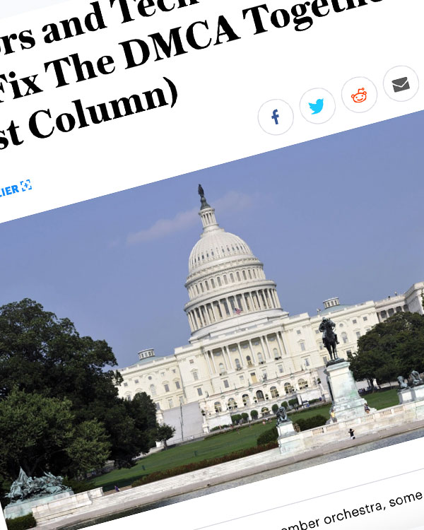 Fairness Rocks News Creators and Tech Companies: Let's Fix The DMCA Together
