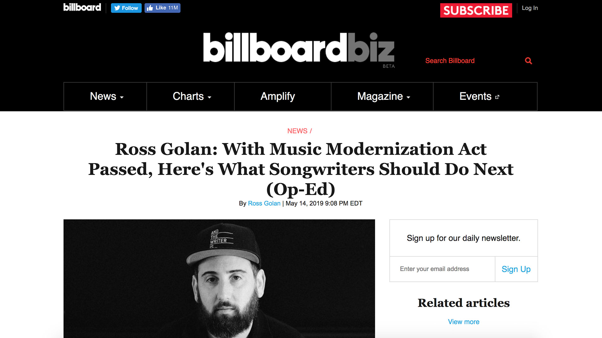 Fairness Rocks News Ross Golan: With Music Modernization Act Passed, Here's What Songwriters Should Do Next (Op-Ed)