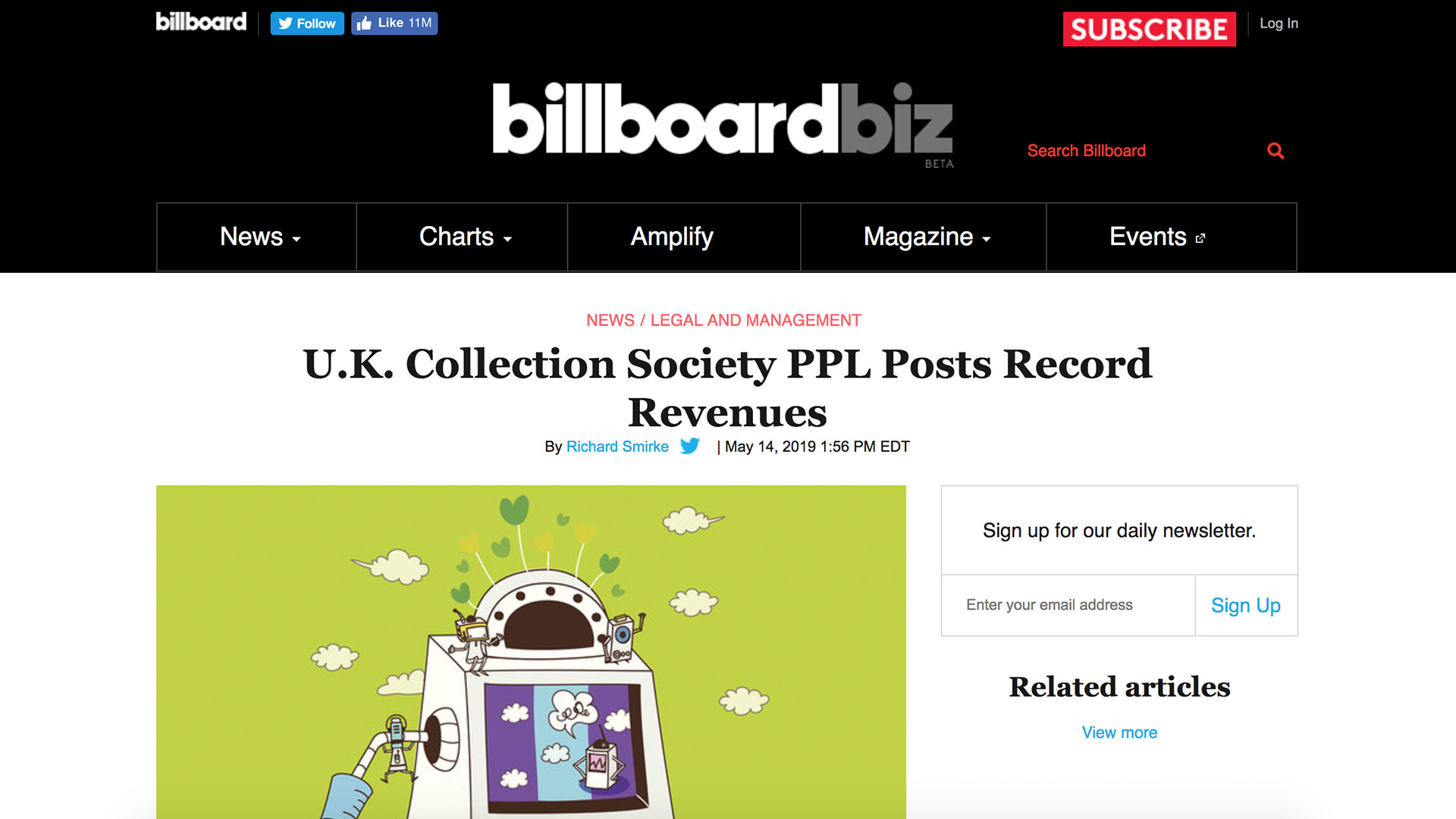 Fairness Rocks News U.K. Collection Society PPL Posts Record Revenues