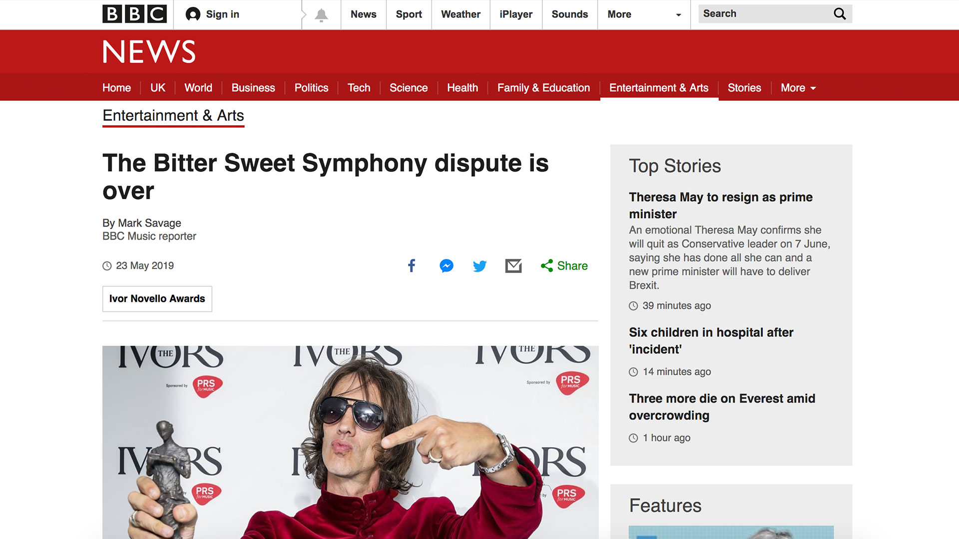 Fairness Rocks News The Bitter Sweet Symphony dispute is over