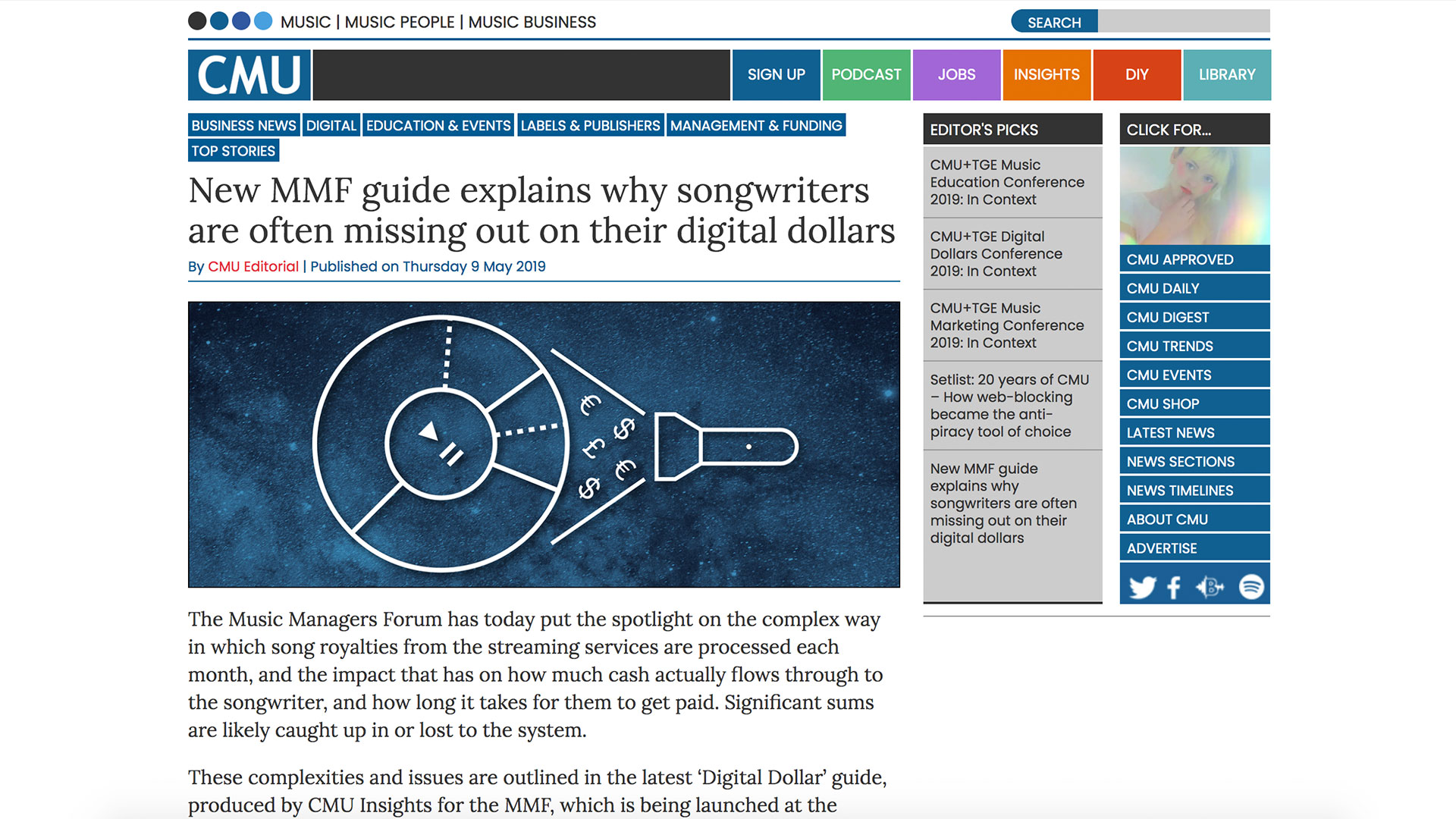 Fairness Rocks News New MMF guide explains why songwriters are often missing out on their digital dollars