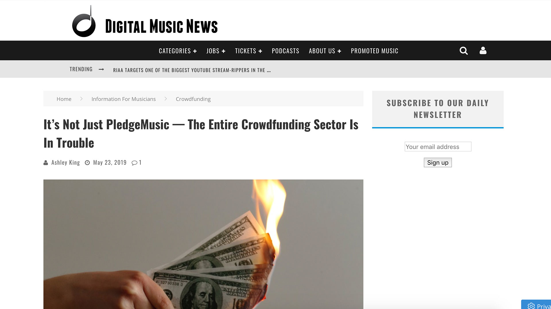 Fairness Rocks News It's Not Just PledgeMusic — The Entire Crowdfunding Sector Is In Trouble