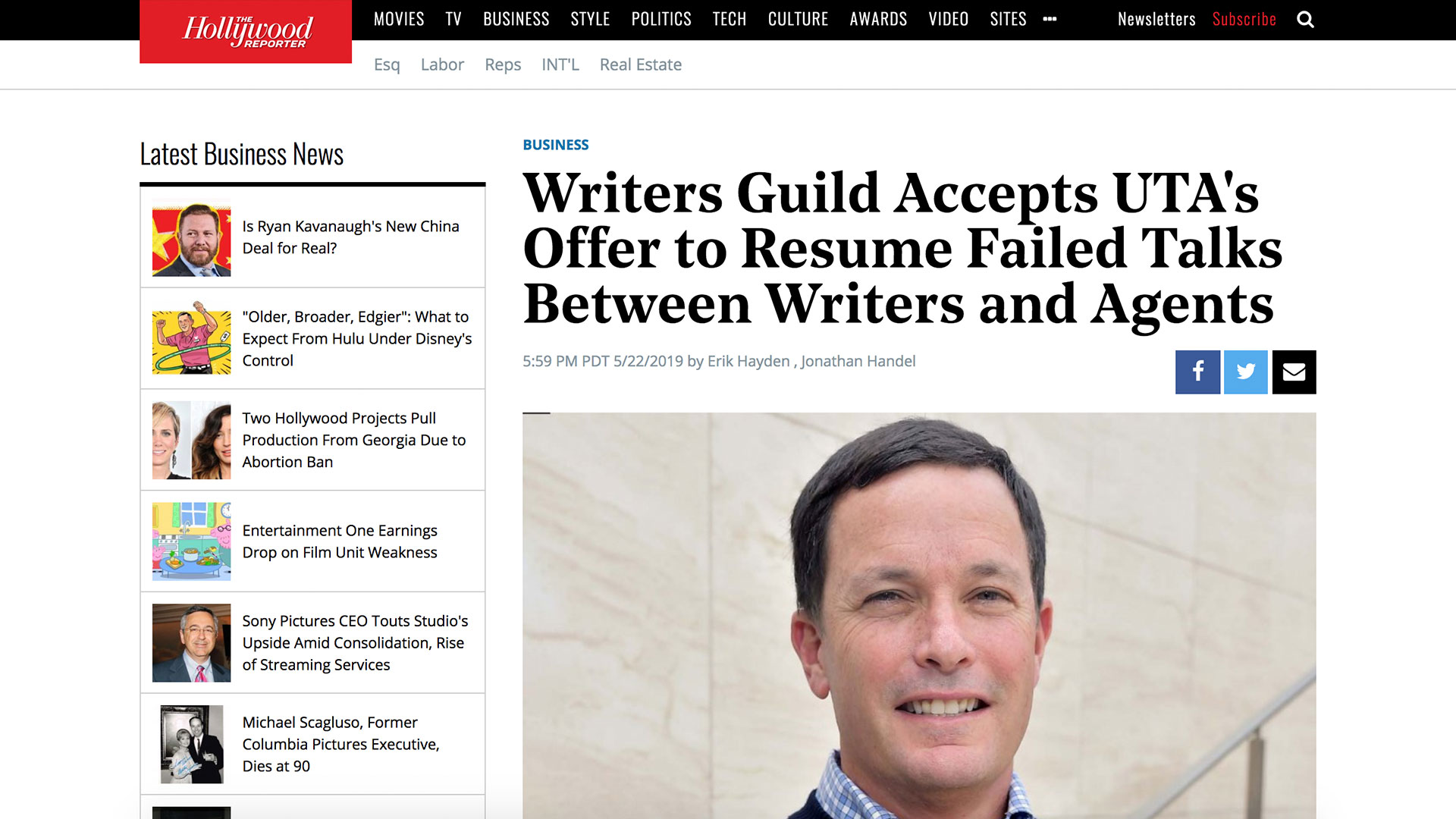 Fairness Rocks News Writers Guild Accepts UTA's Offer to Resume Failed Talks Between Writers and Agents