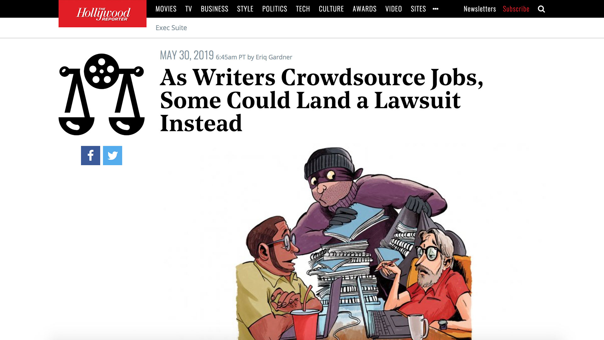 Fairness Rocks News As Writers Crowdsource Jobs, Some Could Land a Lawsuit Instead