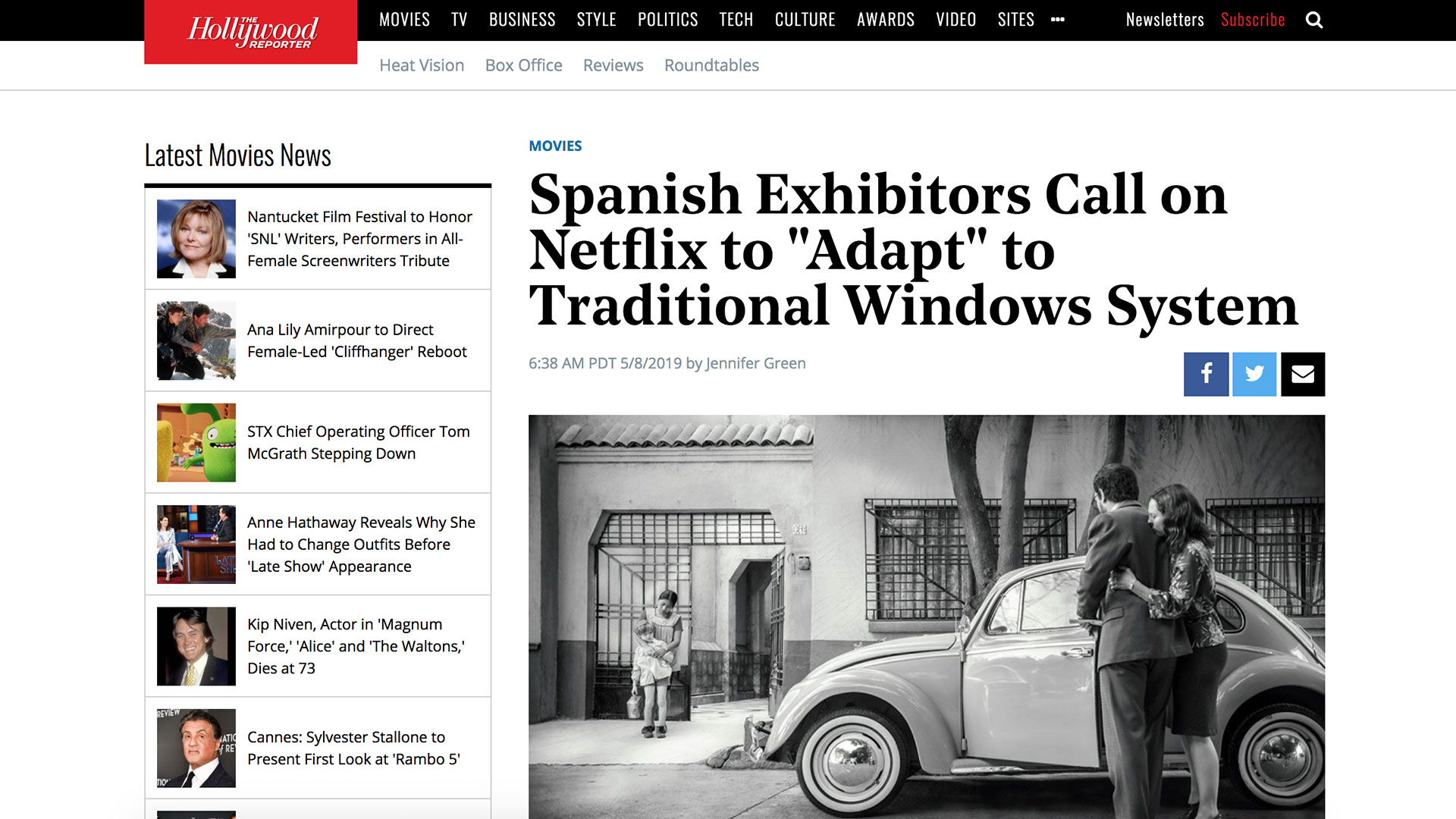 "Fairness Rocks News Spanish Exhibitors Call on Netflix to ""Adapt"" to Traditional Windows System"