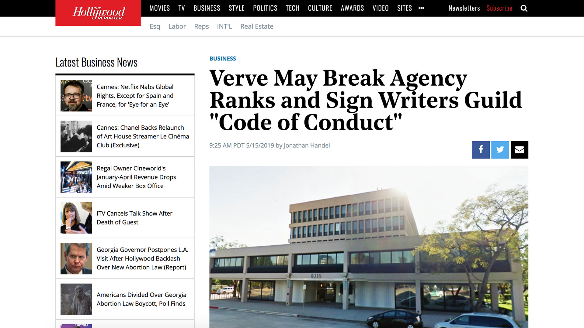 "Fairness Rocks News Verve May Break Agency Ranks and Sign Writers Guild ""Code of Conduct"""