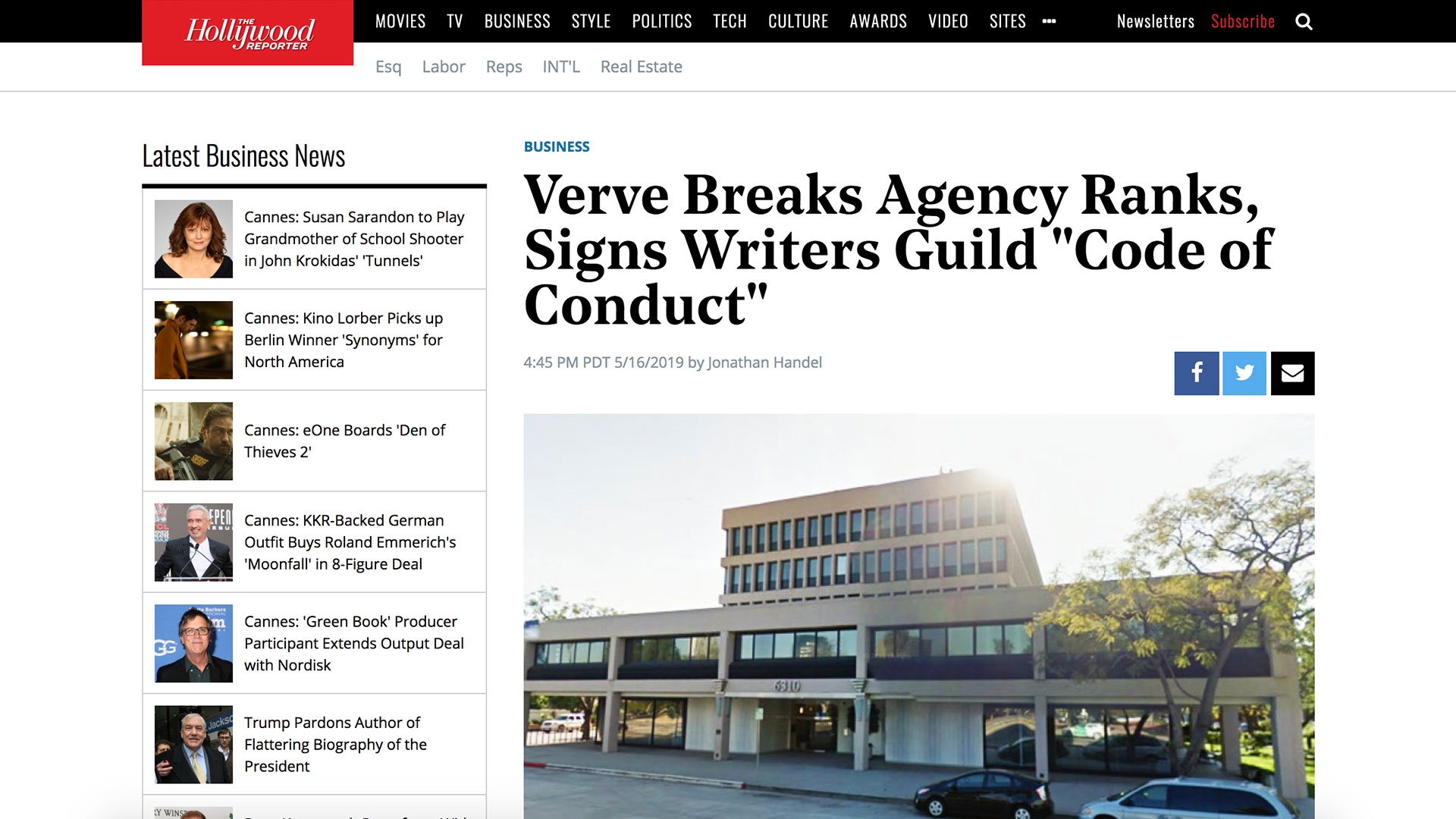 """Fairness Rocks News Verve Breaks Agency Ranks, Signs Writers Guild """"Code of Conduct"""""""