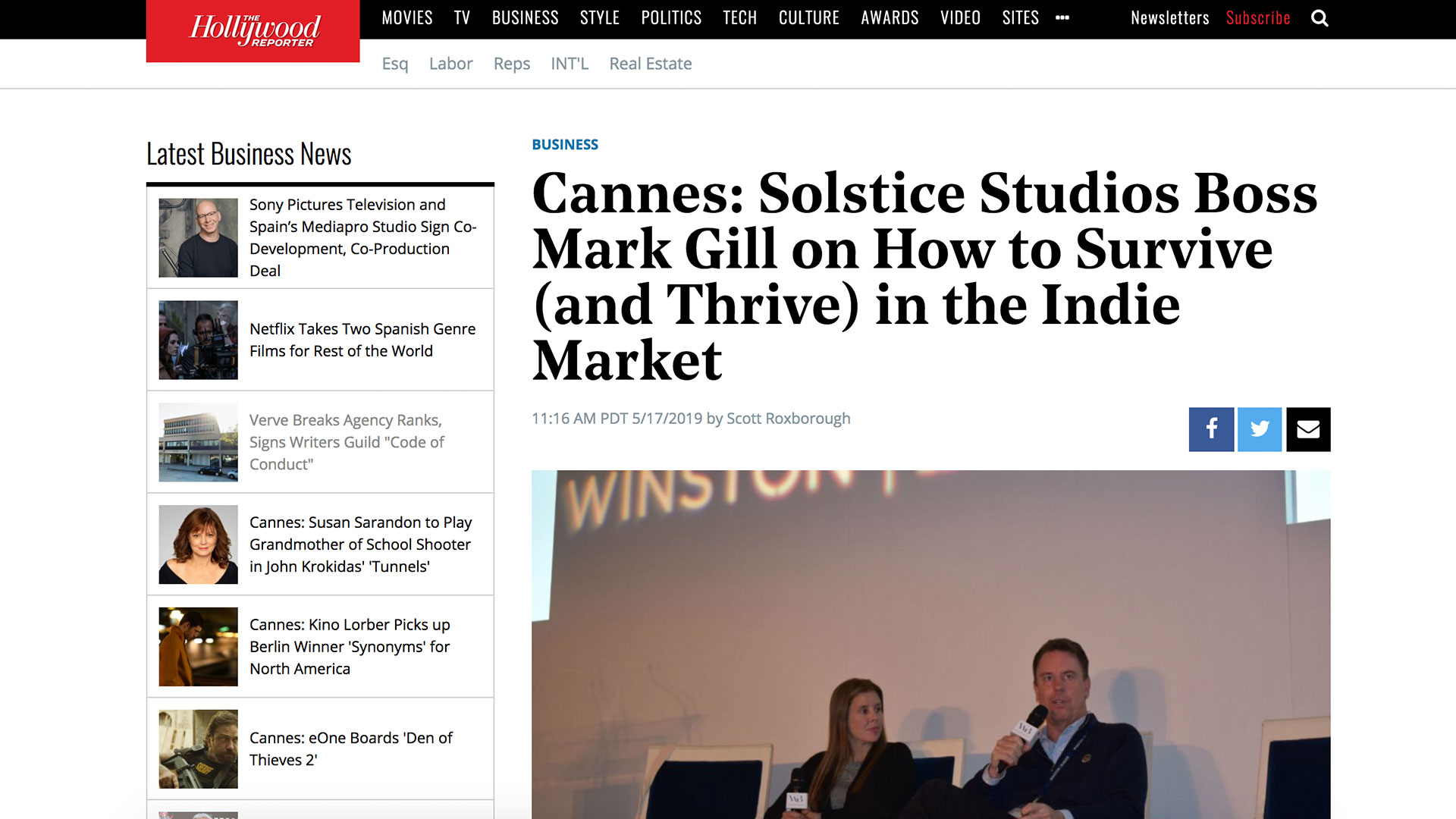 Fairness Rocks News Cannes: Solstice Studios Boss Mark Gill on How to Survive (and Thrive) in the Indie Market