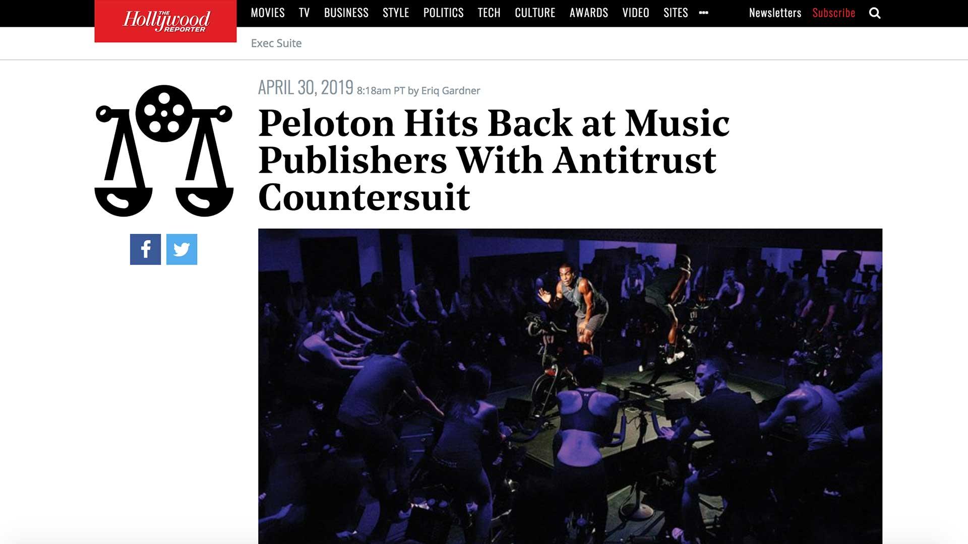 Fairness Rocks News Peloton Hits Back at Music Publishers With Antitrust Countersuit