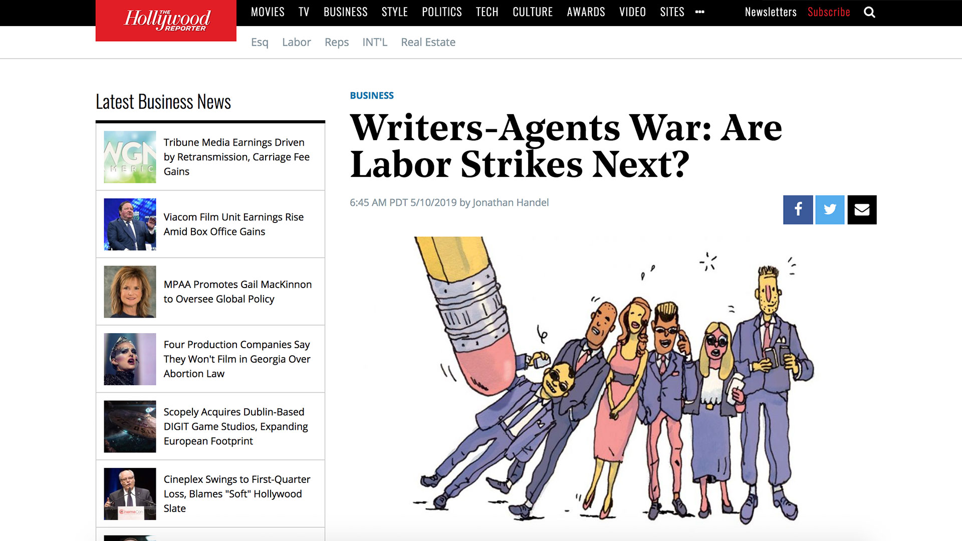 Fairness Rocks News Writers-Agents War: Are Labor Strikes Next?