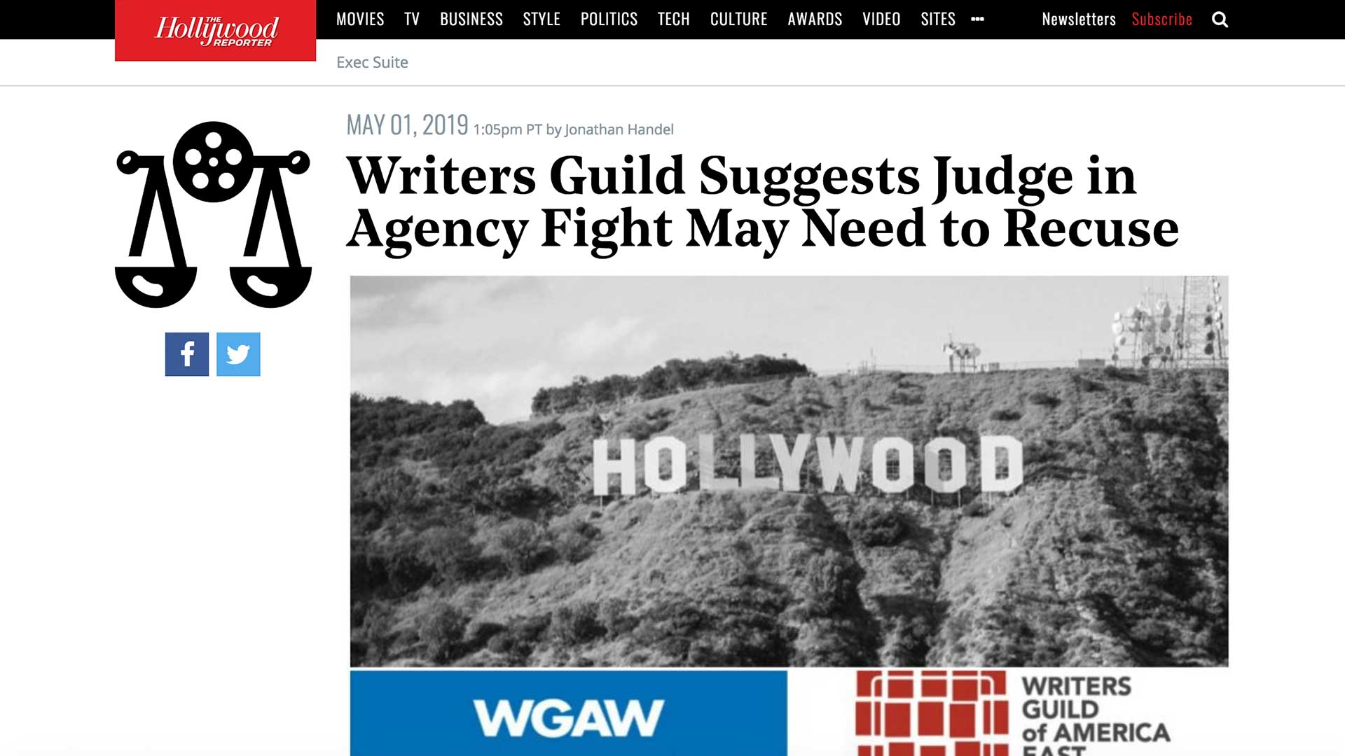 Fairness Rocks News Writers Guild Suggests Judge in Agency Fight May Need to Recuse