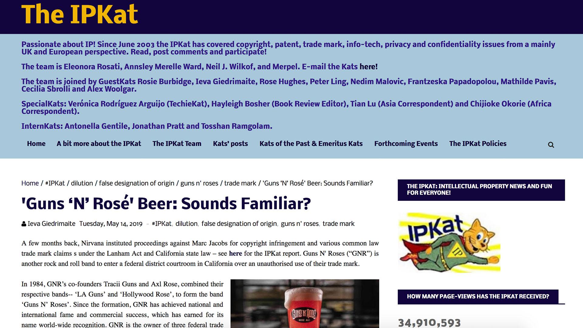 Fairness Rocks News 'Guns 'N' Rosé' Beer: Sounds Familiar?