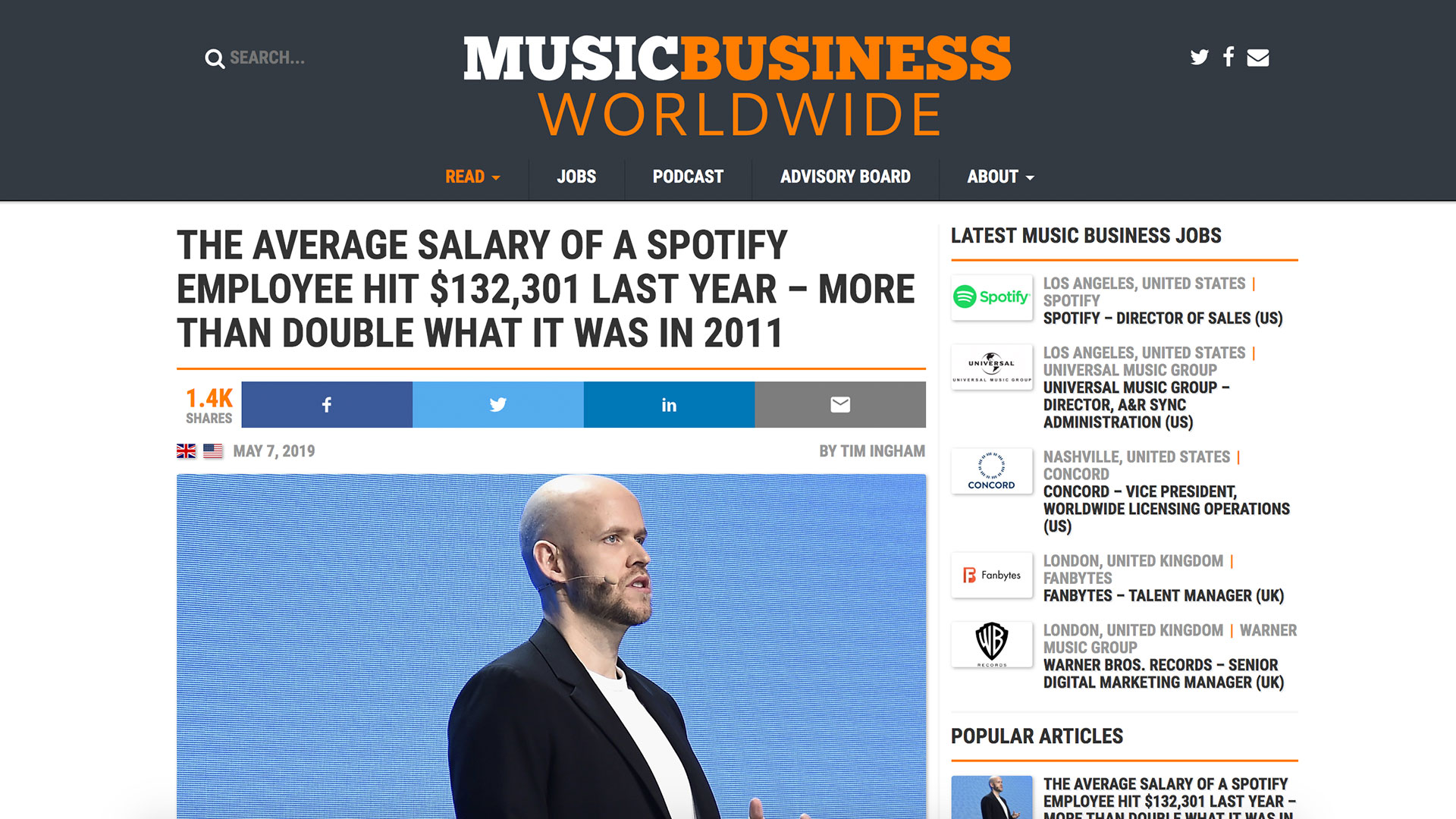 Fairness Rocks News THE AVERAGE SALARY OF A SPOTIFY EMPLOYEE HIT $132,301 LAST YEAR – MORE THAN DOUBLE WHAT IT WAS IN 2011