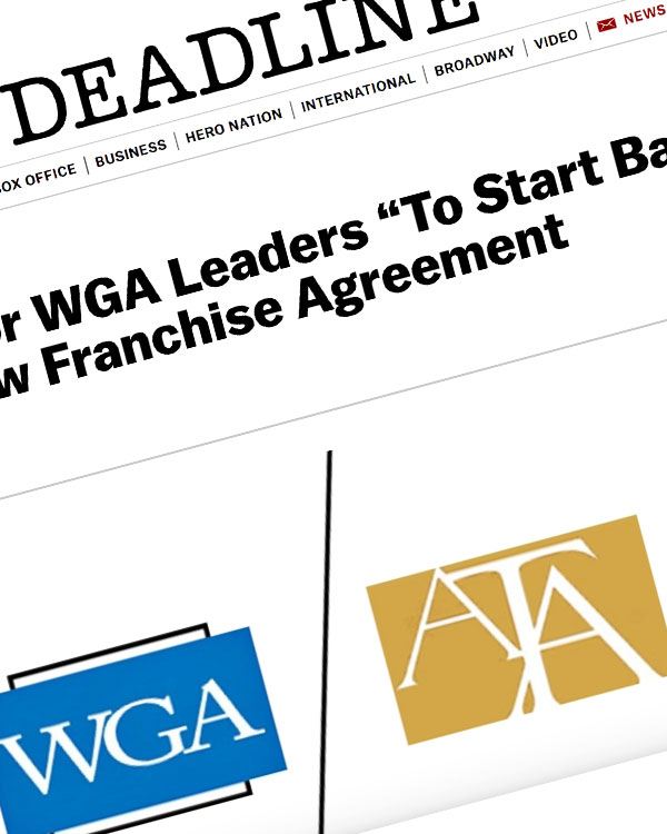 "Fairness Rocks News ATA: It's Time For WGA Leaders ""To Start Bargaining In Earnest"" For New Franchise Agreement"