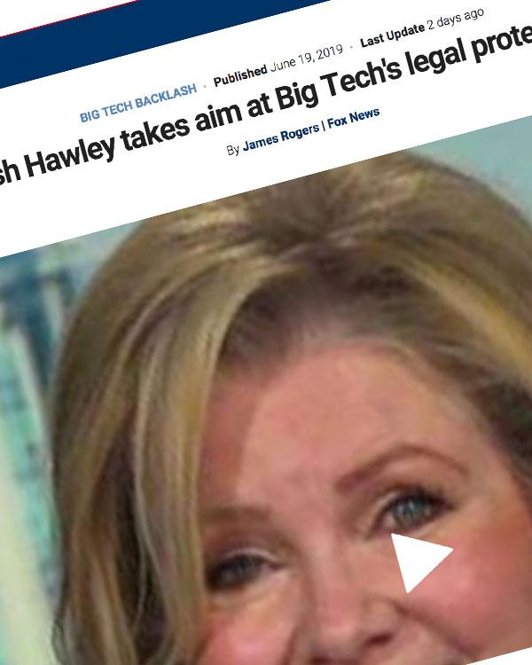 Fairness Rocks News GOP Sen. Josh Hawley takes aim at Big Tech's legal protection with new bill