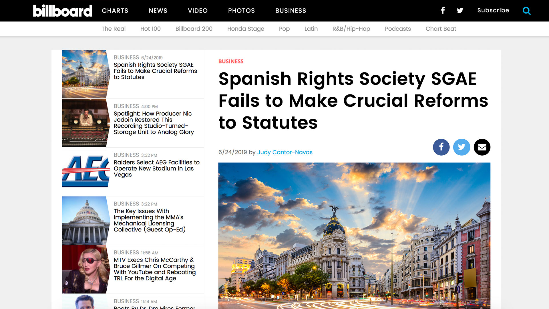 Fairness Rocks News Spanish Rights Society SGAE Fails to Make Crucial Reforms to Statutes