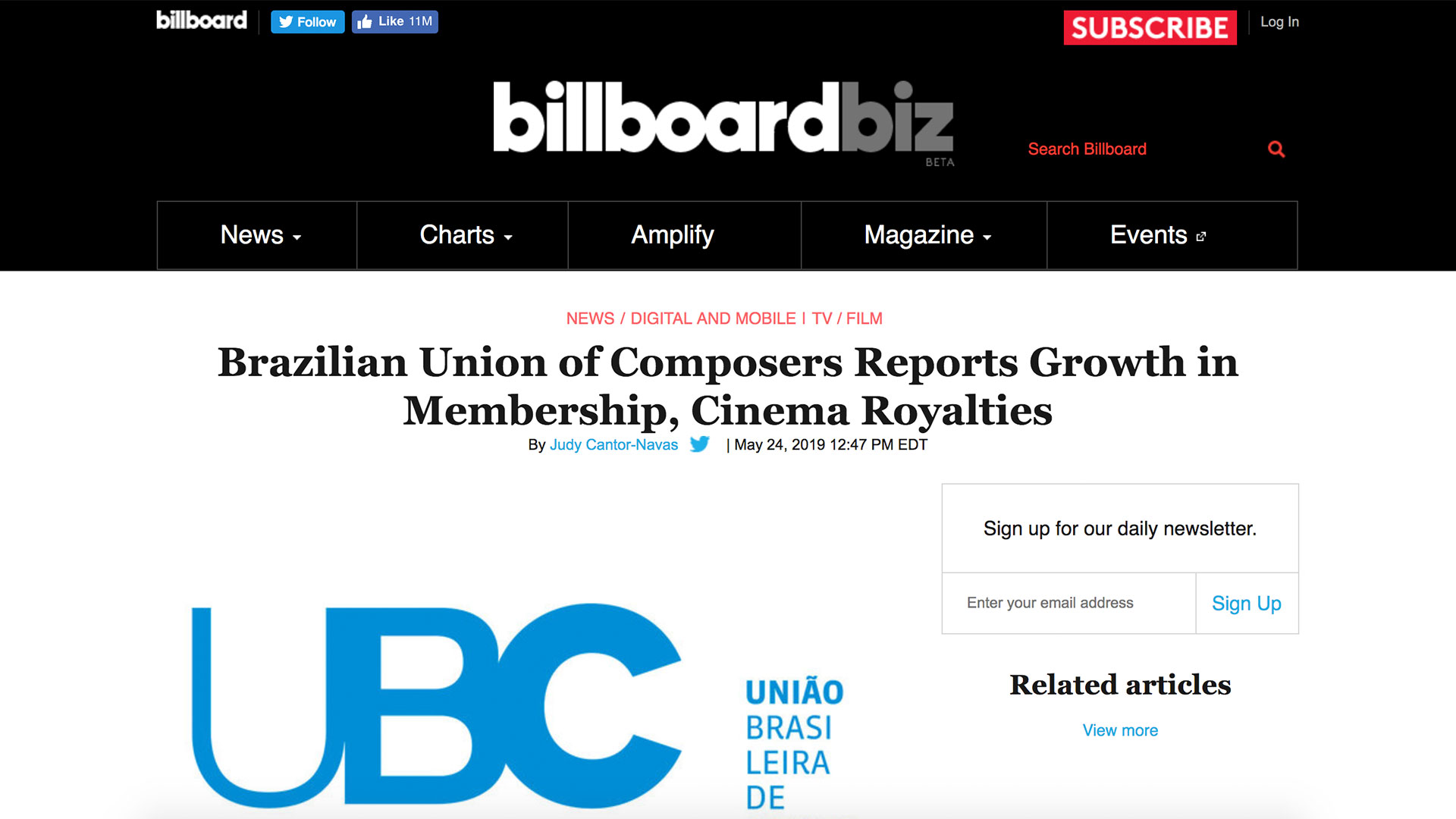Fairness Rocks News Brazilian Union of Composers Reports Growth in Membership, Cinema Royalties