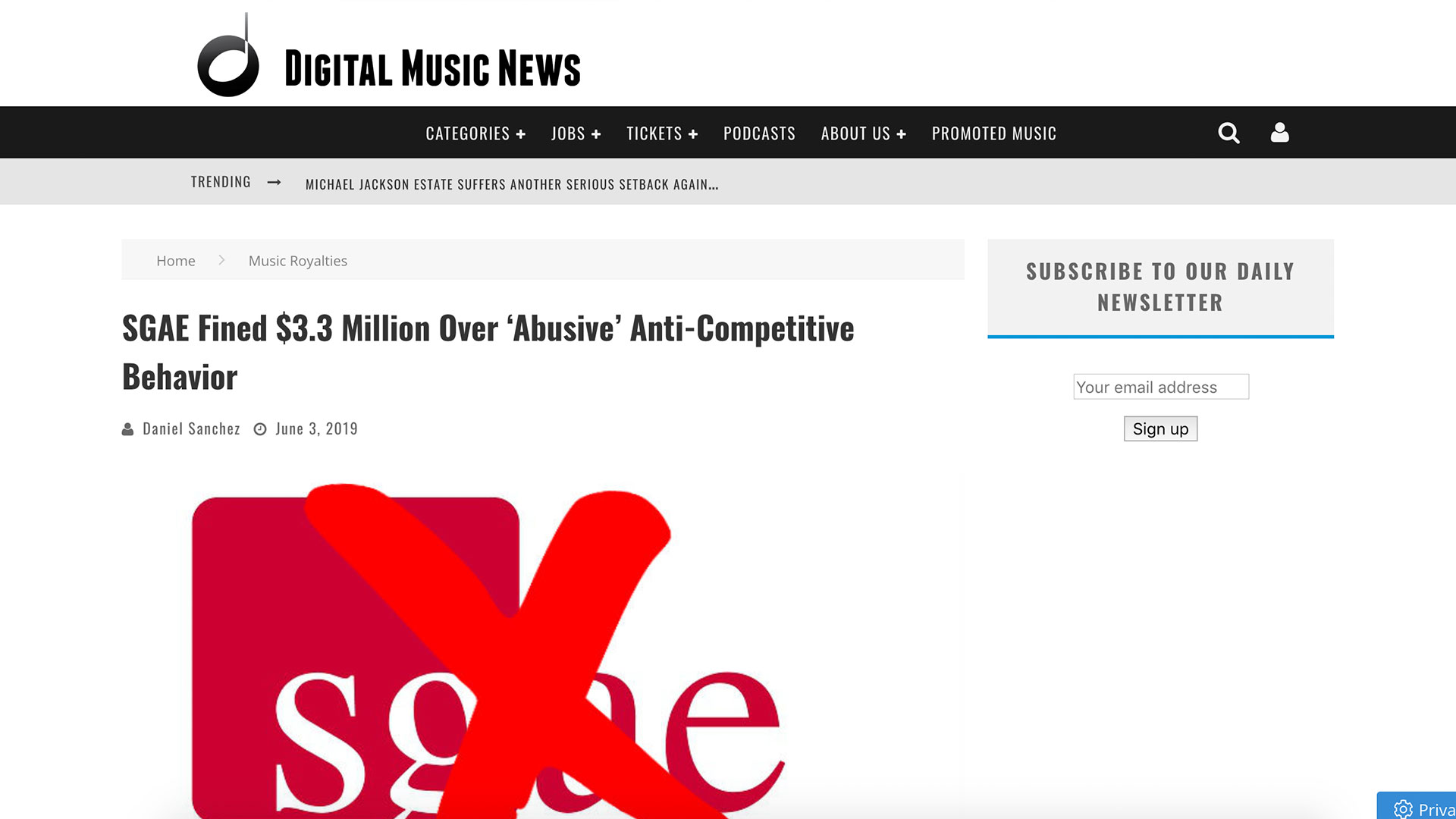 Fairness Rocks News SGAE Fined $3.3 Million Over 'Abusive' Anti-Competitive Behavior