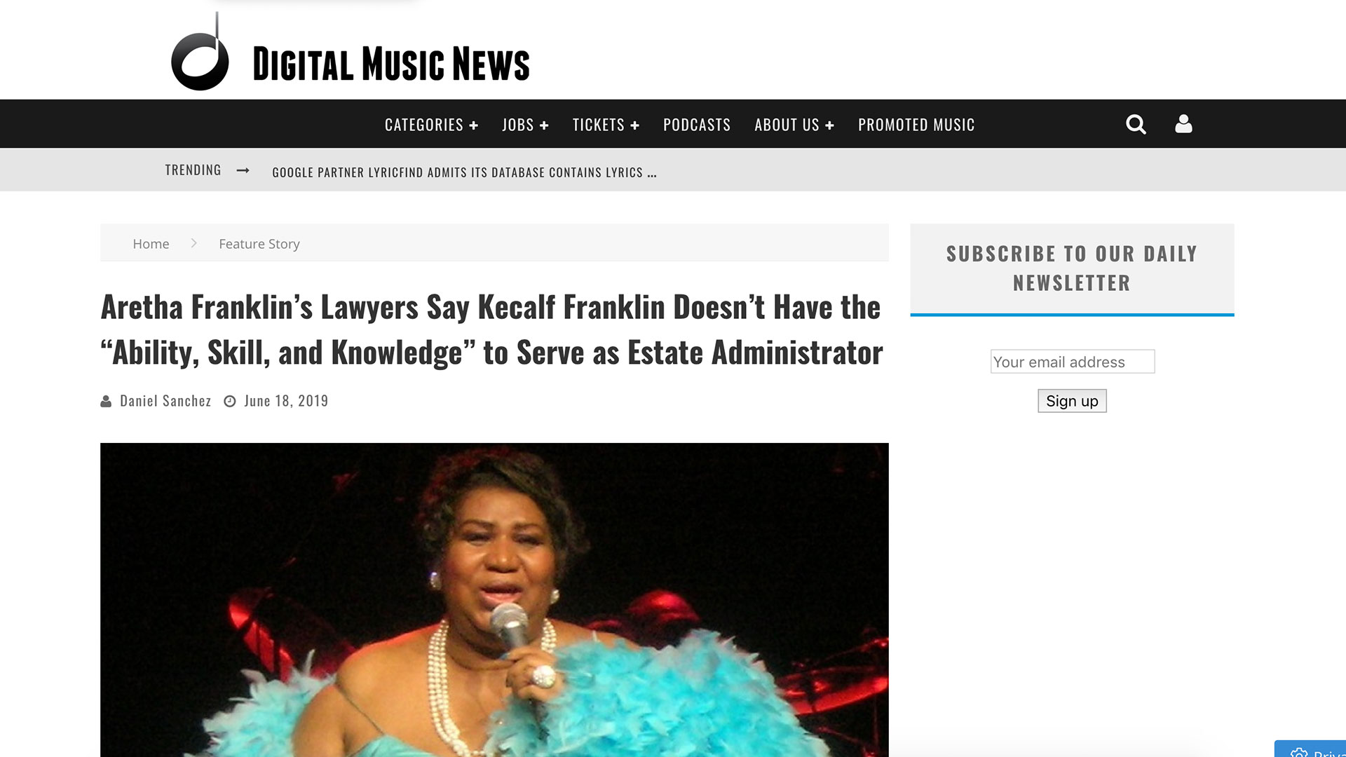 "Fairness Rocks News Aretha Franklin's Lawyers Say Kecalf Franklin Doesn't Have the ""Ability, Skill, and Knowledge"" to Serve as Estate Administrator"
