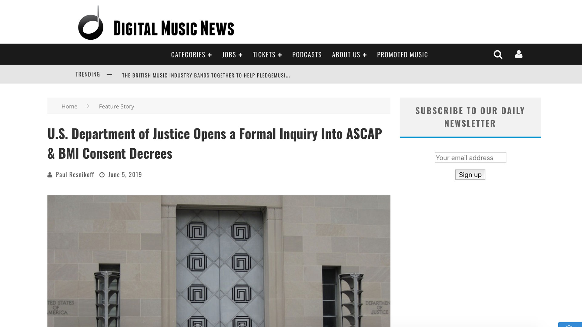 Fairness Rocks News U.S. Department of Justice Opens a Formal Inquiry Into ASCAP & BMI Consent Decrees
