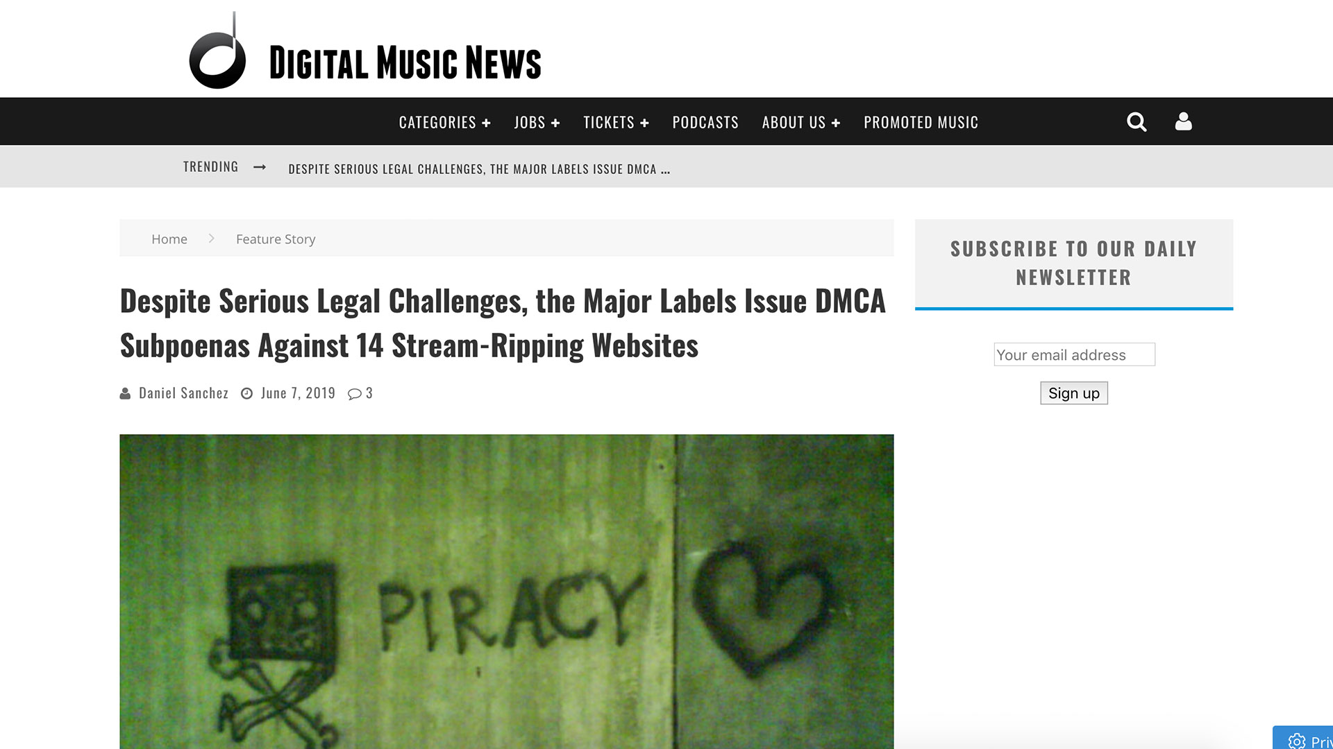 Fairness Rocks News Despite Serious Legal Challenges, the Major Labels Issue DMCA Subpoenas Against 14 Stream-Ripping Websites
