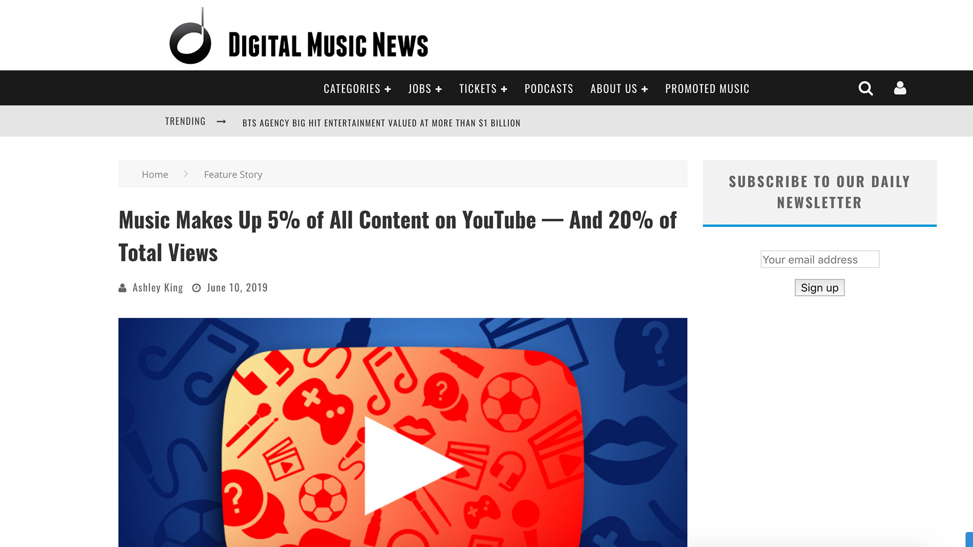 Fairness Rocks News Music Makes Up 5% of All Content on YouTube — And 20% of Total Views