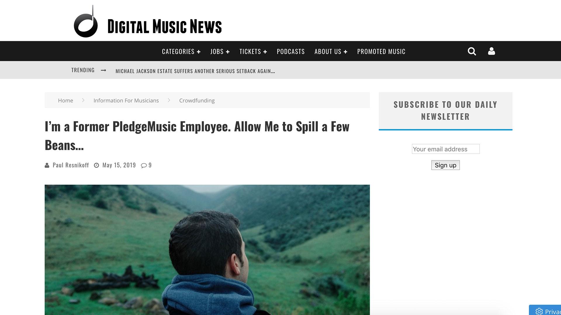 Fairness Rocks News I'm a Former PledgeMusic Employee. Allow Me to Spill a Few Beans…