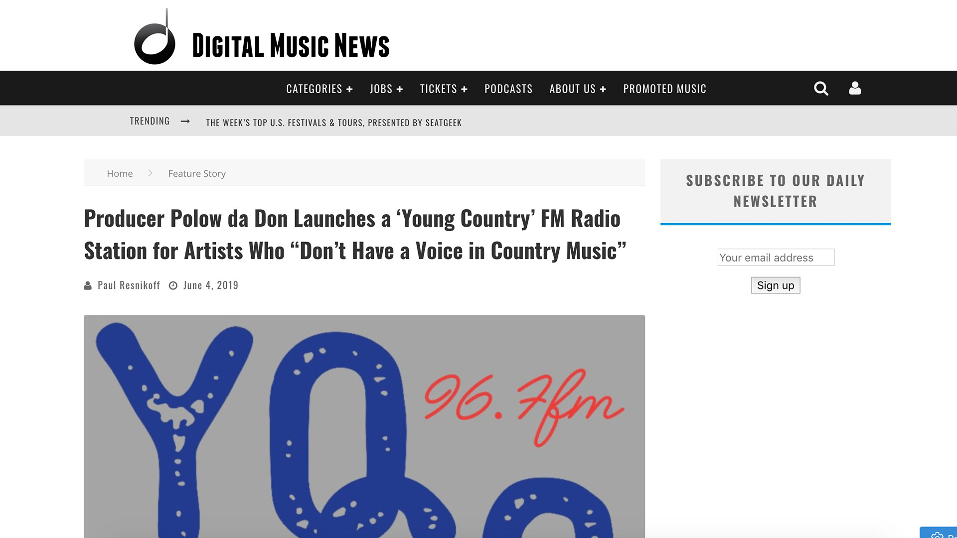 """Fairness Rocks News Producer Polow da Don Launches a 'Young Country' FM Radio Station for Artists Who """"Don't Have a Voice in Country Music"""""""