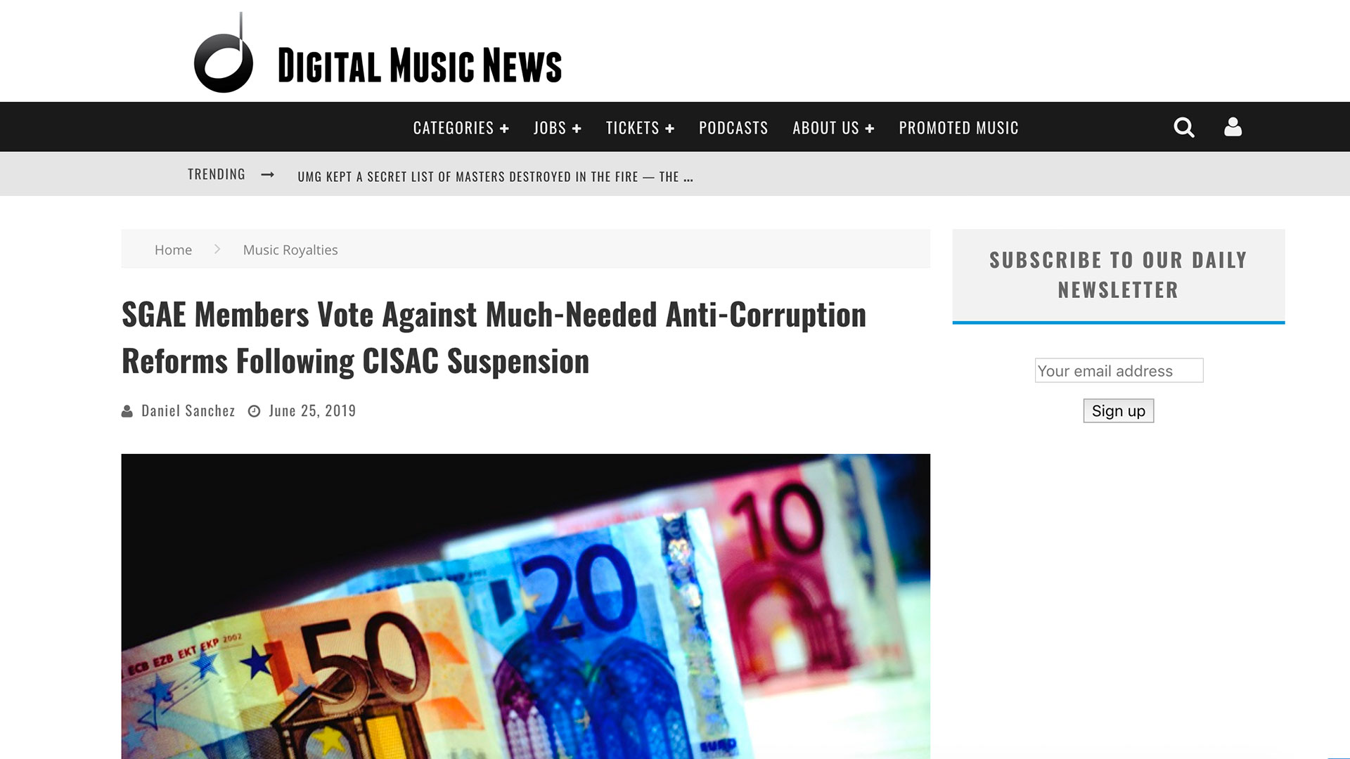 Fairness Rocks News SGAE Members Vote Against Much-Needed Anti-Corruption Reforms Following CISAC Suspension