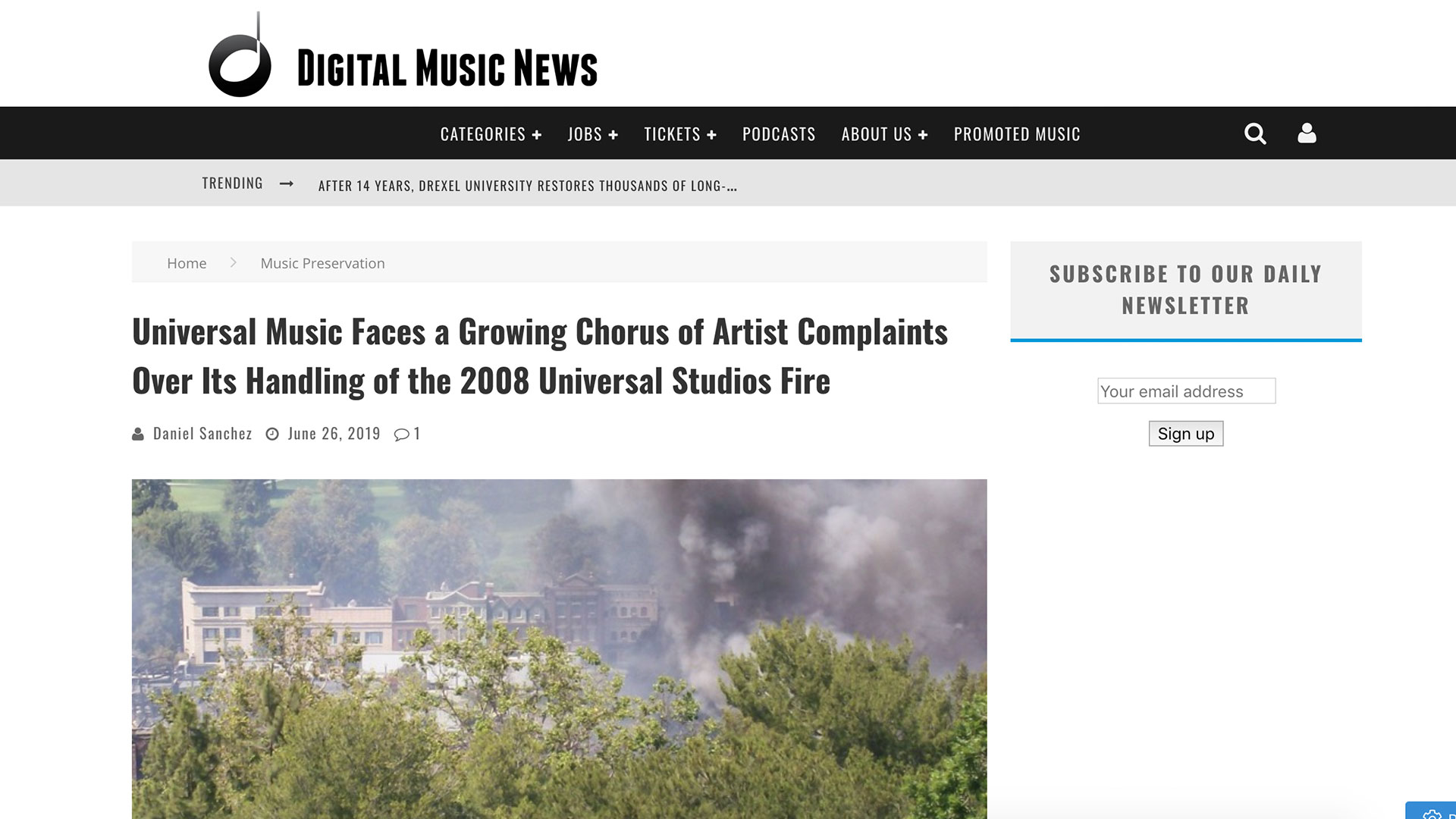Fairness Rocks News Universal Music Faces a Growing Chorus of Artist Complaints Over Its Handling of the 2008 Universal Studios Fire