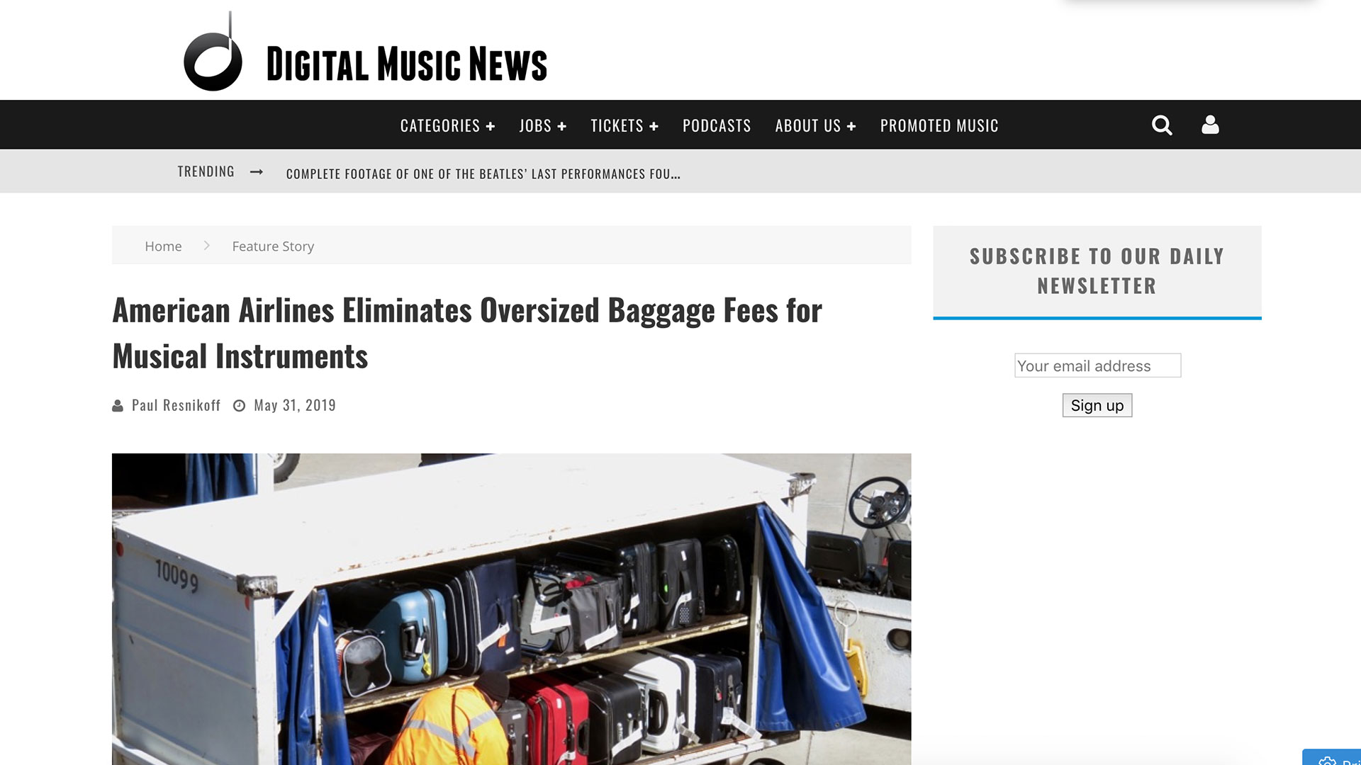 Fairness Rocks News American Airlines Eliminates Oversized Baggage Fees for Musical Instruments