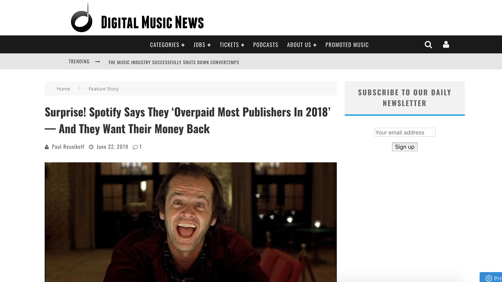 Fairness Rocks News Surprise! Spotify Says They 'Overpaid Most Publishers In 2018' — And They Want Their Money Back