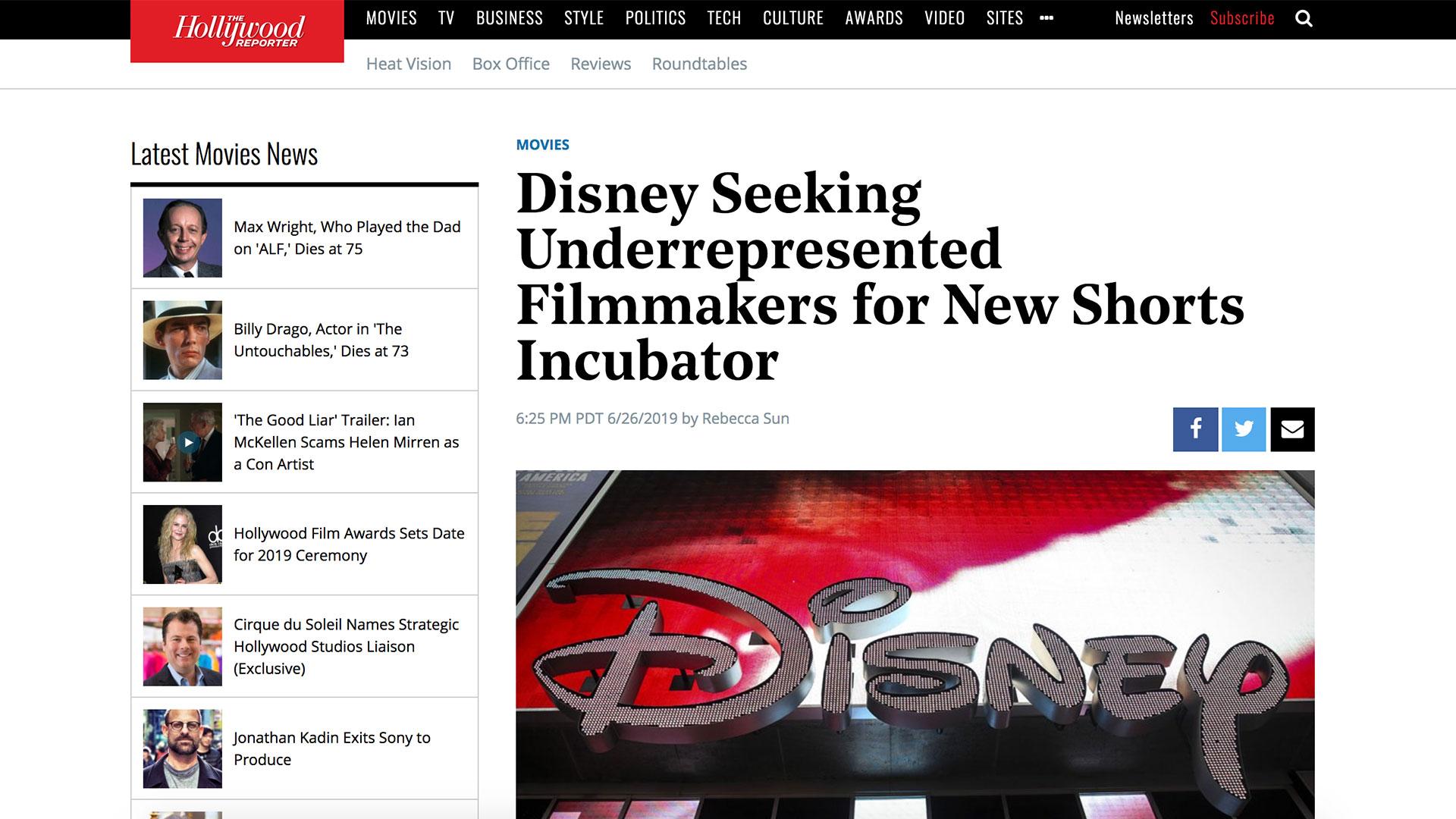 Fairness Rocks News Disney Seeking Underrepresented Filmmakers for New Shorts Incubator