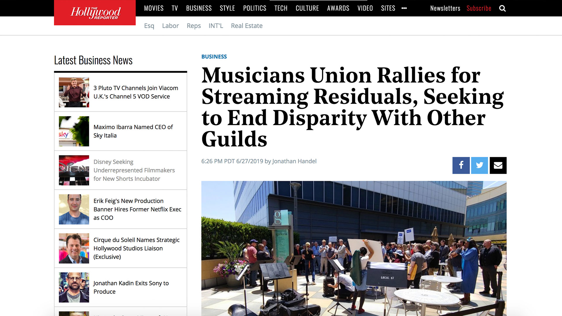 Fairness Rocks News Musicians Union Rallies for Streaming Residuals, Seeking to End Disparity With Other Guilds
