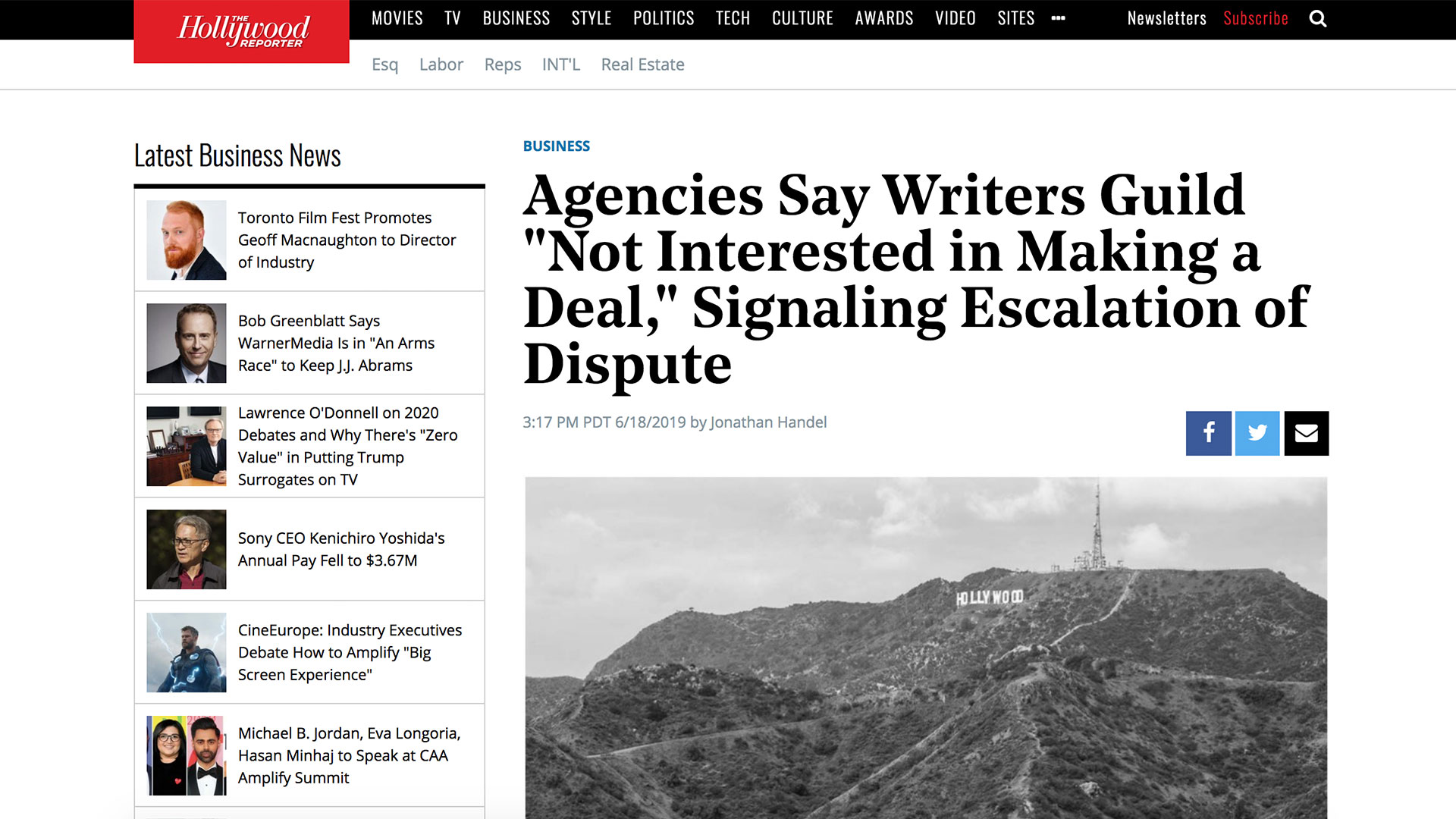 "Fairness Rocks News Agencies Say Writers Guild ""Not Interested in Making a Deal,"" Signaling Escalation of Dispute"