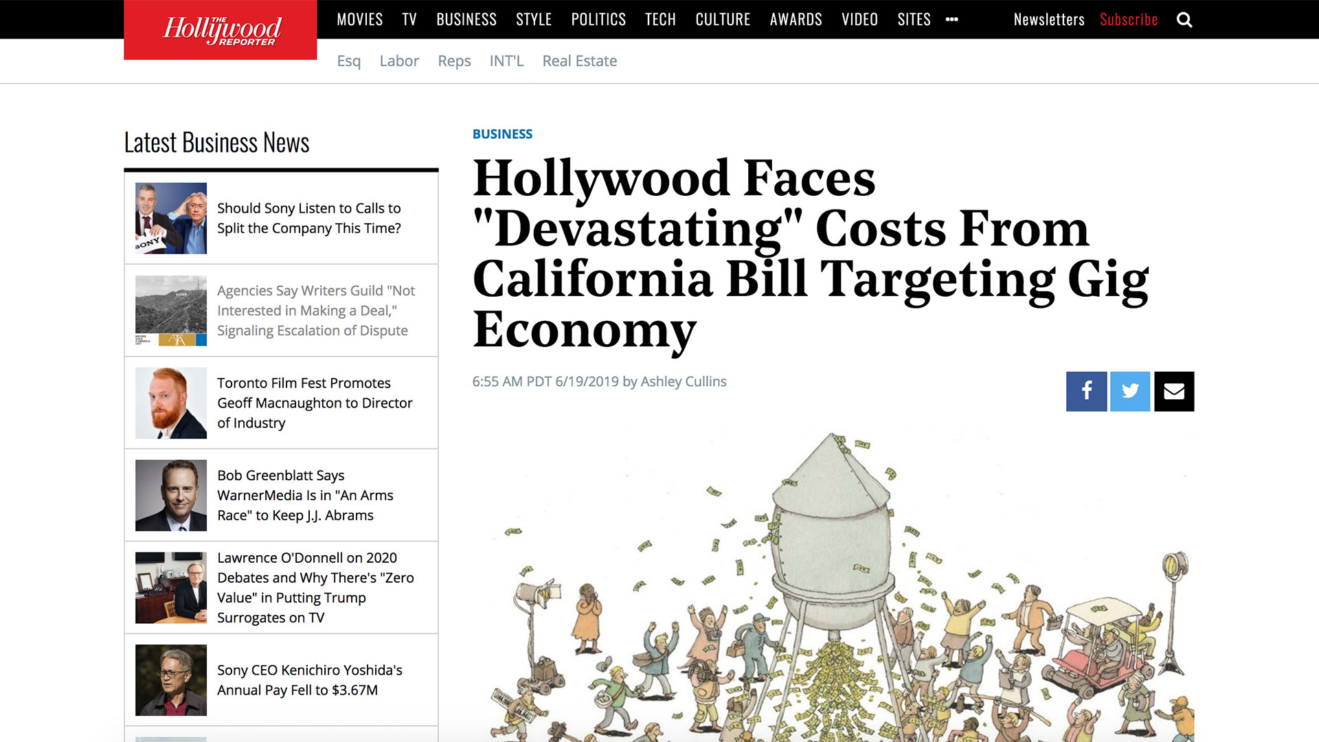 "Fairness Rocks News Hollywood Faces ""Devastating"" Costs From California Bill Targeting Gig Economy"