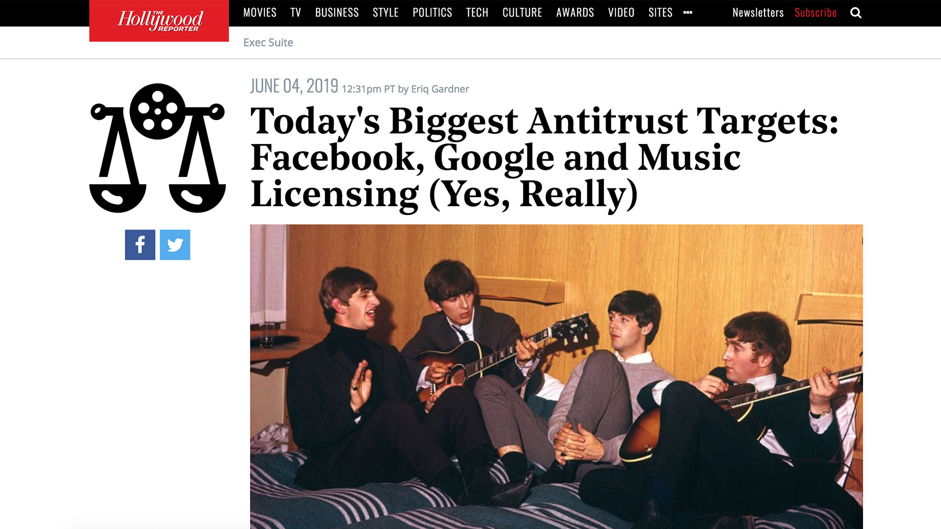 Fairness Rocks News Today's Biggest Antitrust Targets: Facebook, Google and Music Licensing (Yes, Really)