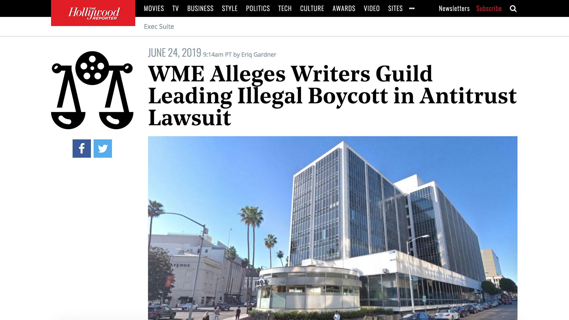 Fairness Rocks News WME Alleges Writers Guild Leading Illegal Boycott in Antitrust Lawsuit