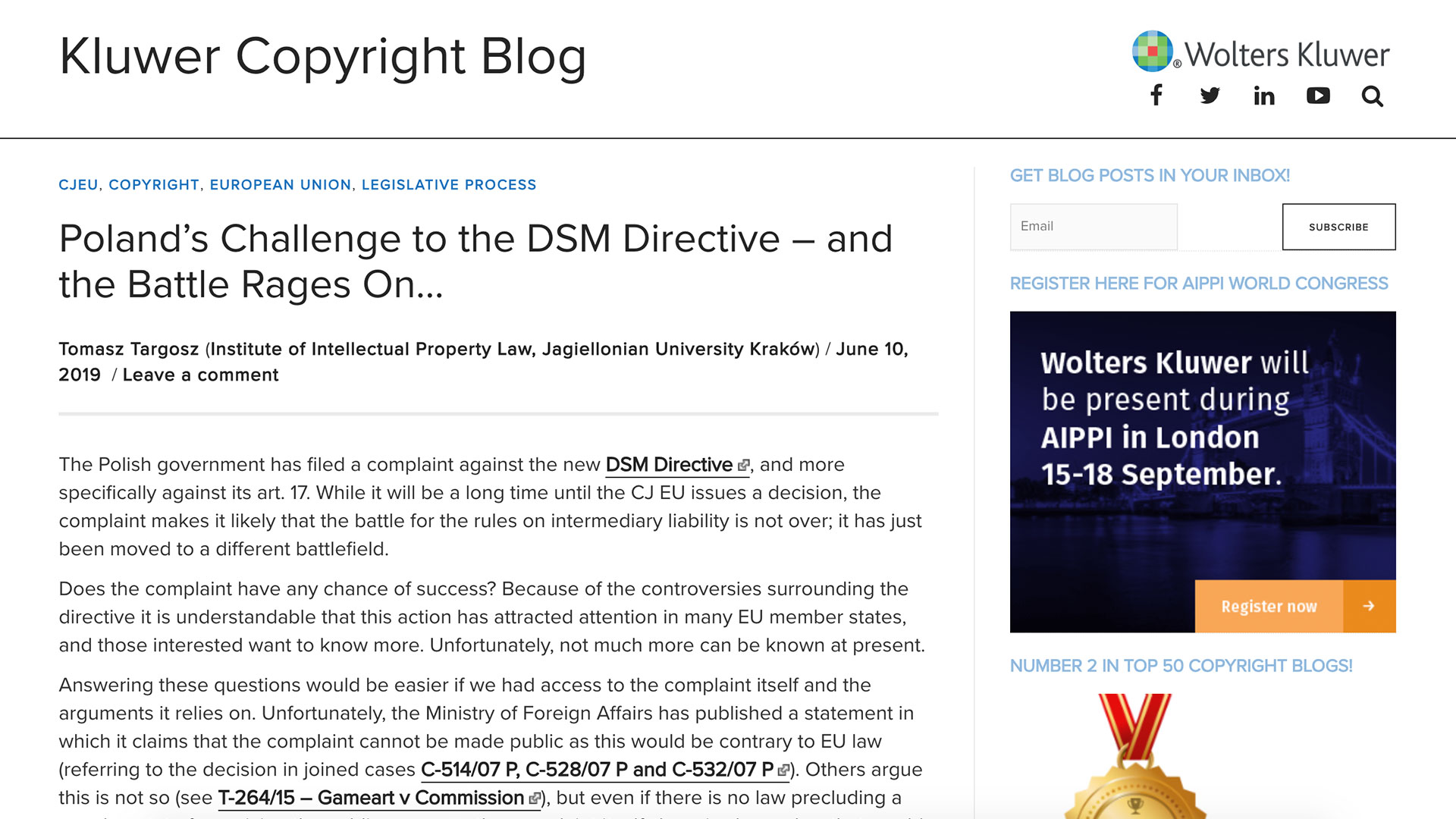 Fairness Rocks News Poland's Challenge to the DSM Directive – and the Battle Rages On…