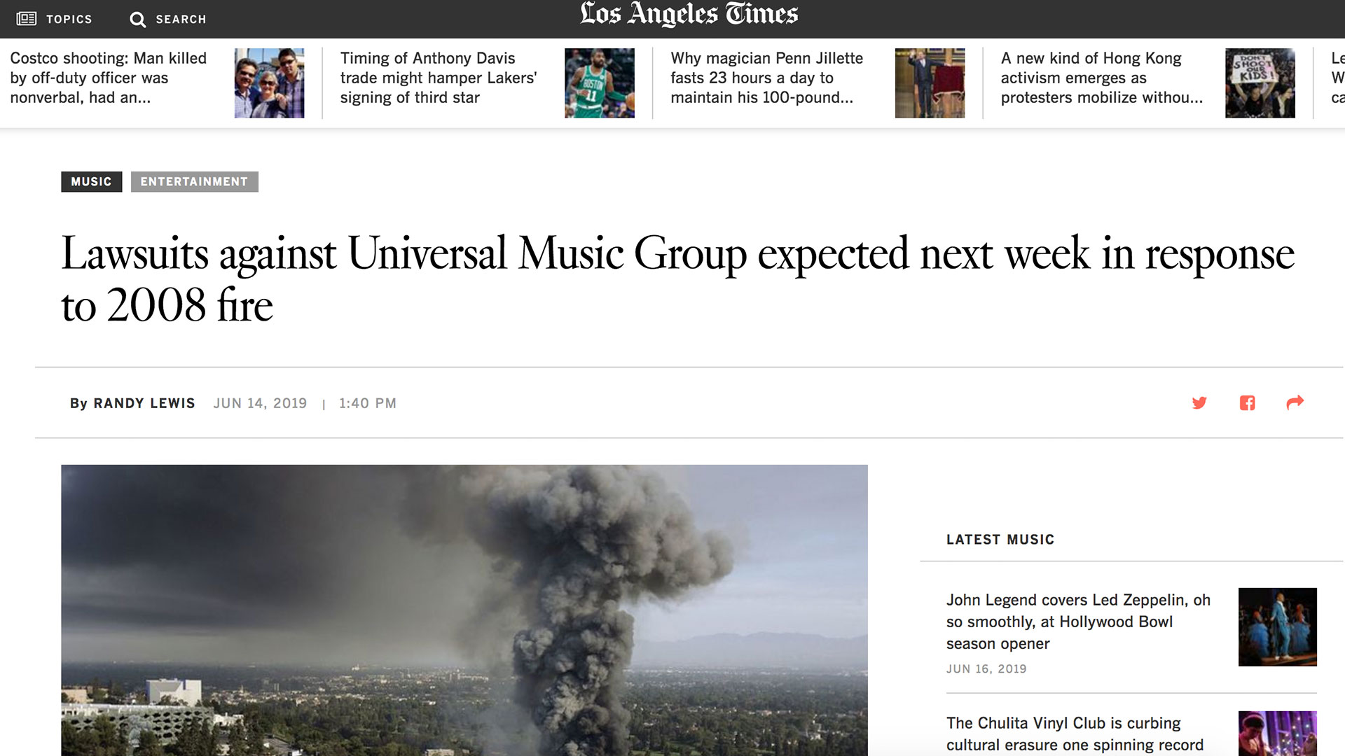 Fairness Rocks News Lawsuits against Universal Music Group expected next week in response to 2008 fire