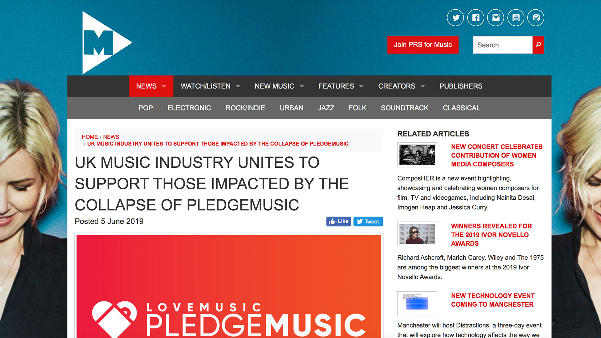 Fairness Rocks News UK MUSIC INDUSTRY UNITES TO SUPPORT THOSE IMPACTED BY THE COLLAPSE OF PLEDGEMUSIC