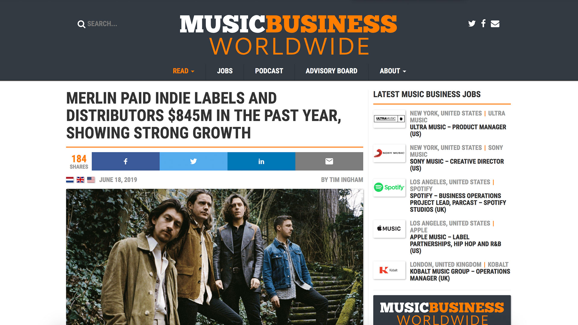 Fairness Rocks News MERLIN PAID INDIE LABELS AND DISTRIBUTORS $845M IN THE PAST YEAR, SHOWING STRONG GROWTH