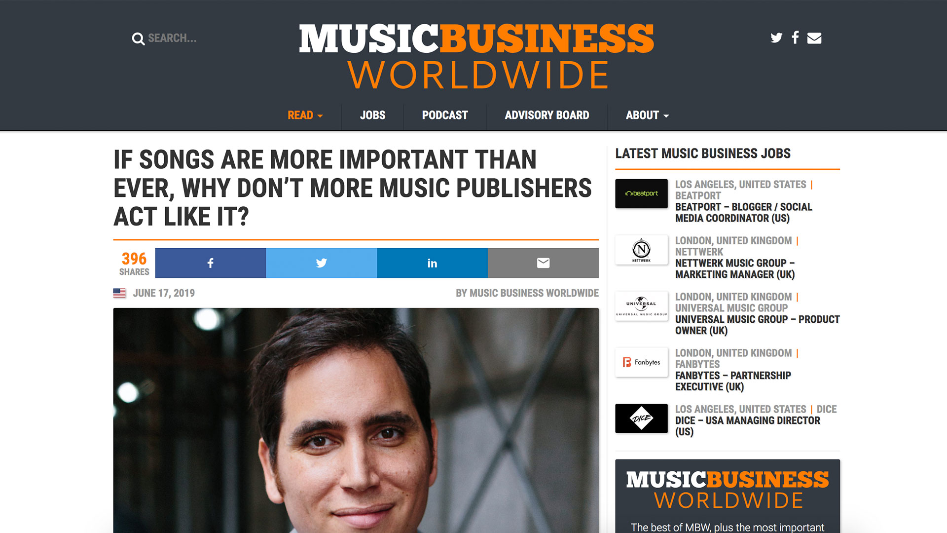Fairness Rocks News IF SONGS ARE MORE IMPORTANT THAN EVER, WHY DON'T MORE MUSIC PUBLISHERS ACT LIKE IT?