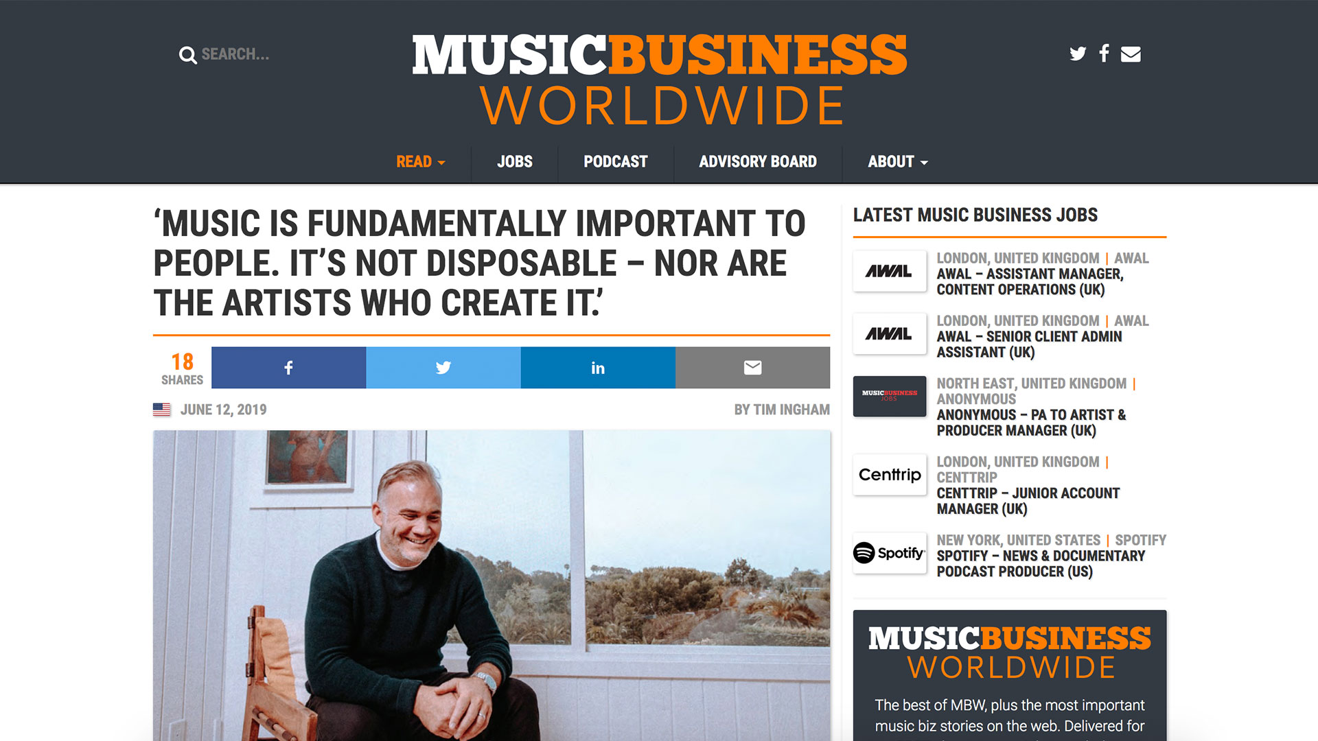 Fairness Rocks News 'MUSIC IS FUNDAMENTALLY IMPORTANT TO PEOPLE. IT'S NOT DISPOSABLE – NOR ARE THE ARTISTS WHO CREATE IT.'