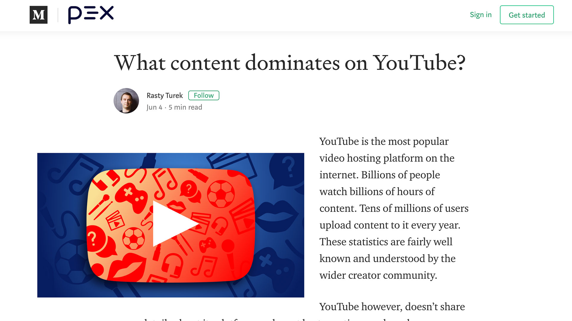 Fairness Rocks News What content dominates on YouTube?