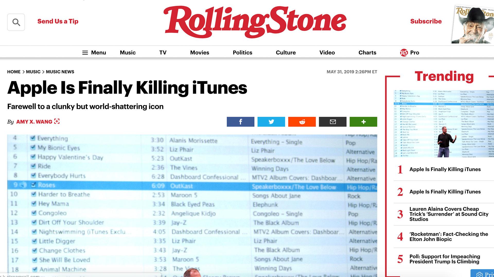Fairness Rocks News Apple Is Finally Killing iTunes