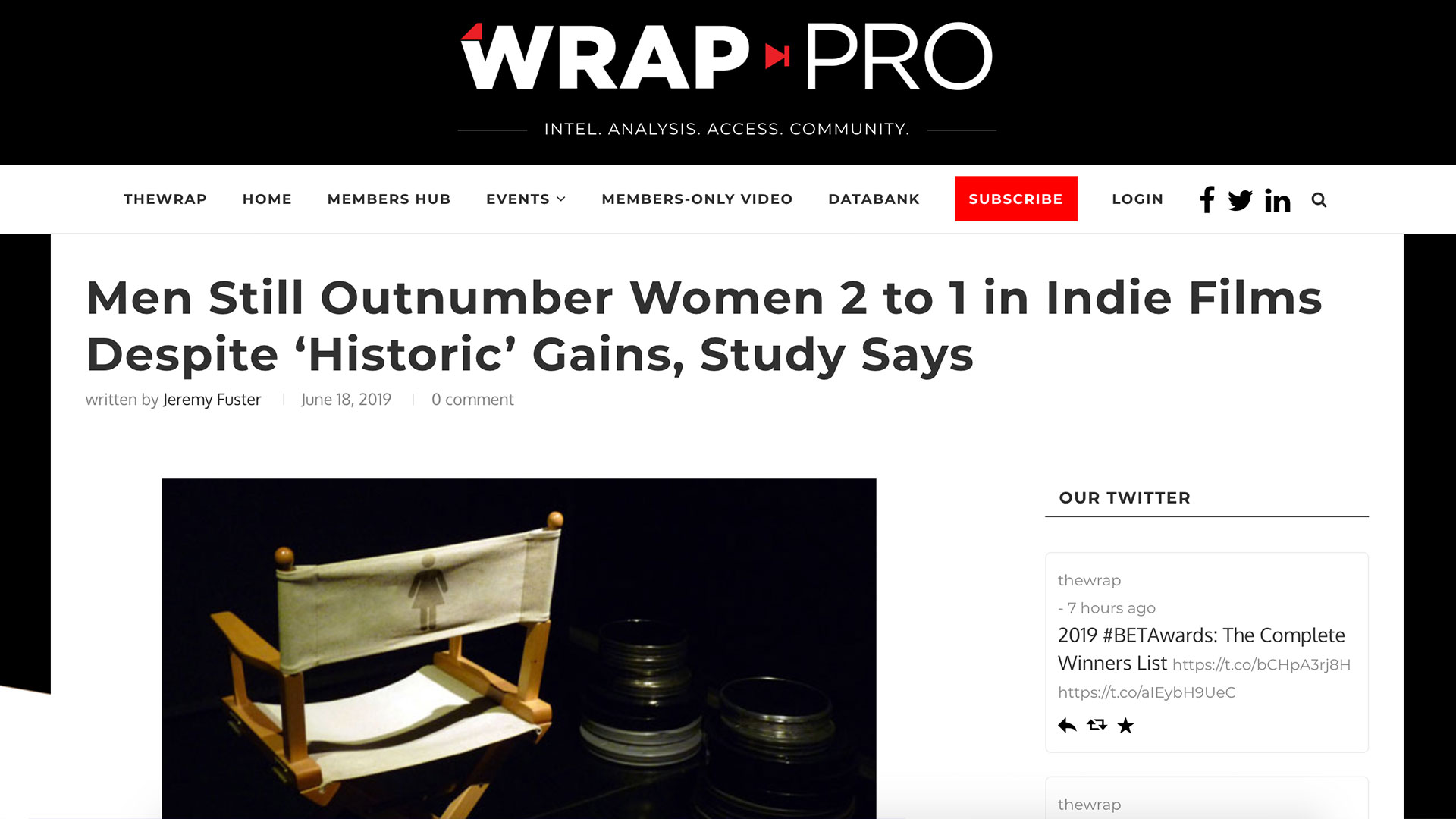 Fairness Rocks News Men Still Outnumber Women 2 to 1 in Indie Films Despite 'Historic' Gains, Study Says